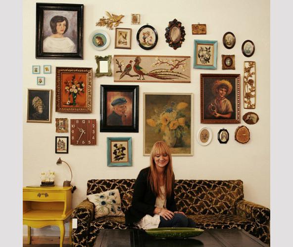 Portrait Gallery Wall  |  Primitive Modernism Blog, view more amazing images: www.primitivemodernism.com/blog/about-face