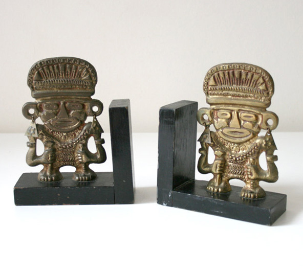 boxofhollyhocks-etsy-aztec-bookends