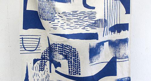 Laura Slater Fabric via Primitive Modernism Blog