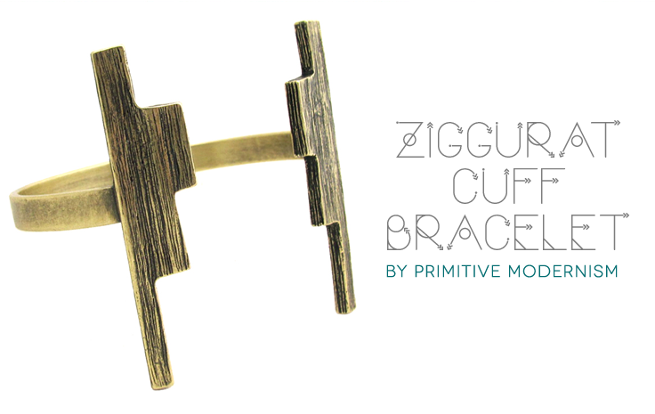 The Ziggurat Cuff Bracelet by Primitive Modernism