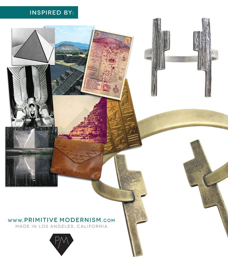 The Ziggurat Cuff Bracelet by Primitive Modernism