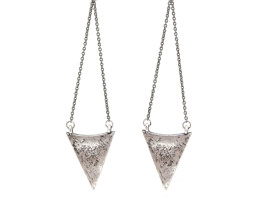 Arrowhead Chandelier Earrings - Antiqued Silver