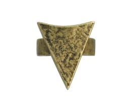 Arrowhead Ring - Antiqued Brass