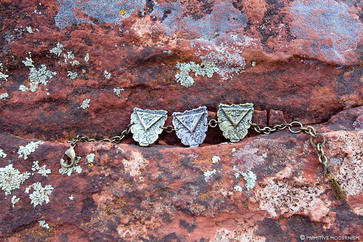 // Primitive Modernism Jewelry - Triple Mini Shield Bracelet in Sedona, AZ
